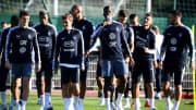 L'Équipe de France à l'entraînement.