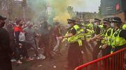 Los aficionados del Manchester United contra la familia Glazer