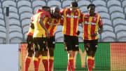 Les Lensois célèbrent leur victoire face à Dijon.