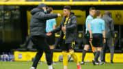 Haaland gratuliert Sancho zu seiner Tor-Gala gegen Leipzig