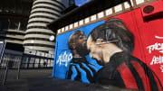 Street Art Lukaku vs Ibrahimovic