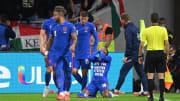 Équipe d'Angleterre face à la Hongrie cette saison