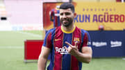 Sergio Aguero has signed for Barcelona but doesn't yet have a shirt number
