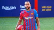FC Barcelona Unveil New Signing Memphis Depay