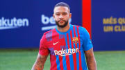 Memphis Depay has been unveiled as a Barcelona player