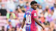 Fati scored on his Barcelona return