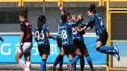 La festa di Inter Women dopo un gol nel derby
