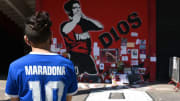 Fans of Newell's Old Boys Pay Tribute to Diego Maradona