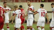A Milli Takım oyuncularının gol sevinci