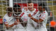 Atakas Hatayspor oyuncularının gol sevinci