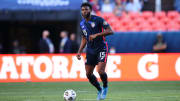 Mark McKenzie playing in the  CONCACAF Nations League Semi Finals