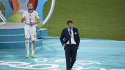 Gareth Southgate en la final de la Eurocopa