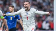 Luke Shaw put England 1-0 up on Sunday