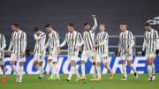 Uno scatto della Juventus durante la sfida di Coppa Italia con la Spal