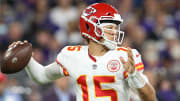Patrick Mahomes threw his first no-look interception in September.