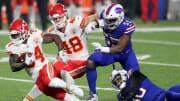 Chiefs y Bills chocan en un enfrentamiento en el que Patrick Mahomes podría estar ausente