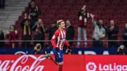 Griezmann celebra un gol en el Wanda