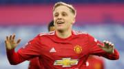 Donny van de Beek is frustrated at Manchester United