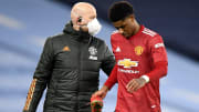 Marcus Rashford picked up an ankle injury against Manchester City