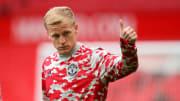 Van de Beek has scarcely featured for Man Utd this season