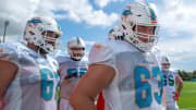 Miami Dolphins guard Michael Deiter at training camp
