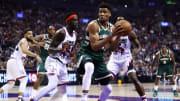 Giannis Antetokounmpo demostró una vez más que tiene el nivel para repetir el premio MVP de la NBA