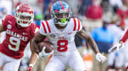 New York Jets rookie Elijah Moore's fantasy outlook rises after The Athletic chooses him as the team's breakout player.