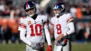 Eli Manning and Daniel Jones.