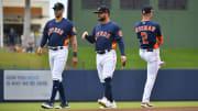 Houston Astros stars Carlos Correa, Jose Altuve and Alex Bregman