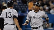 Robinson Cano with Alex Rodriguez as members of the New York Yankees