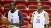 Kendrick Perkins and Kevin Durant