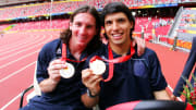 Lionel Messi & Sergio Aguero won gold for Argentina in 2008