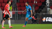 Ahmed Hassan'ın gol sevinci