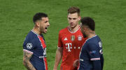Neymar and Paredes celebrating in front of Kimmich