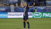 Nadia Nadim playing for Paris Saint-Germain vs Olympique Lyonnais in the  Women's French Cup Final