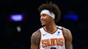Kelly Oubre Jr. plays for the Phoenix Suns against the Brooklyn Nets