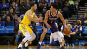 Steph Curry will look to take down Devin Booker and the Suns Tuesday.
