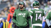 Adam Gase and Sam Darnold, Pittsburgh Steelers v New York Jets