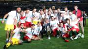 La selección portuguesa celebrando la consecución de la Nations League