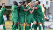 Konyaspor'un gol sevinci