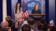 Press Secretary Psaki Briefs White House Media featuring Olivia Rodrigo.
