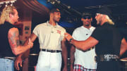 Karl Malone and Dennis Rodman with Diamond Dallas Page and Hulk Hogan