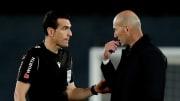 Zinedine Zidane n'était pas satisfait de l'arbitrage ce dimanche soir.