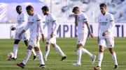 Casemiro, Ferland Mendy, Nacho Fernandez, Toni Kroos y Raphael Varane en un partido de liga