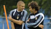 Karim Benzema et Raul à l'entraînement.