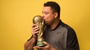 Ronaldo with World Cup Trophy