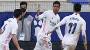 Le Real emmené par un Raphaël Varane décisif s'impose sur la pelouse de Huesca.