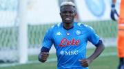 Victor Osimhen sous ses nouvelles couleurs du Napoli.