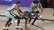 Dejounte Murray, Derrick White - San Antonio Spurs v New Orleans Pelicans