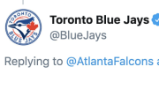 The Blue Jays accused the Falcons of plagirism